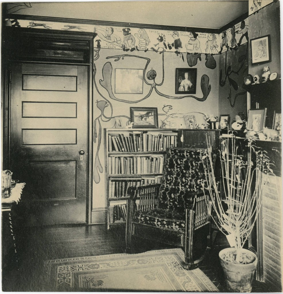 Student's dorm room, Merion Hall ca. 1902-1905 | Bryn Mawr College Special Collections, Bryn Mawr, PA